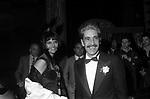 CLAUDIA CARDINALE CON FRANCO CRISTALDI <br /> FESTA ANNI 20 AL JACKIE O' ROMA 1974
