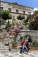 Palazzo Ciampoli in Taormina, Sizilien, Italien