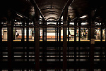 Commuters stroll the Christopher Street -Sheridan Square subway station on the lower West Side , New York City.