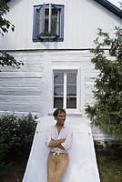 Saint-Norbert (QC) CANADA - EXCLUSIVE  File Photo  circa 83-  Jean-Pierre Ferland in his home of saint-norbert