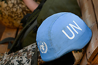 MALI, Gao, Minusma UN peace keeping mission, Camp Castor, german army Bundeswehr, blue helmet of UN / Blauhelm der UNO