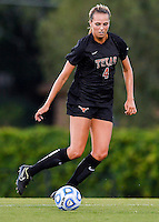 Texas midfielder Lindsey Meyer (4) during an NCAA soccer game, Sunday, September 21, 2014 in San Marcos, Tex. Texas defeated Texas State 2-0. (Mo Khursheed/TFV Media via AP Images)