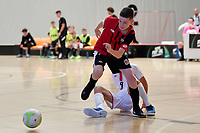 Jack Brown of Selwyn College during the Futsal NZ Secondary Schools Junior Boys Final between Hamilton Boys High School and Selwyn College at ASB Sports Centre, Wellington on 26 March 2021.<br /> Copyright photo: Masanori Udagawa /  www.photosport.nz
