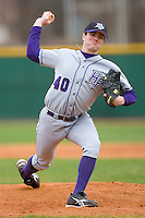 Relief pitcher Steven Roche #40 of the High Point Panthers in action versus the North Carolina A&T Aggies at War Memorial Stadium March 16, 2010, in Greensboro, North Carolina.  Photo by Brian Westerholt / Four Seam Images