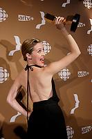 September 16 2012 - Montreal, Quebec, CANADA - Gemeaux Awards Gala - <br /> <br />  - Evelyne Brochu