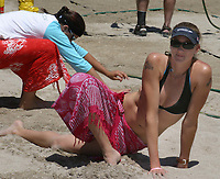Fort Lauderdale, FL  April 1st,2nd, 3rd, 2005<br /> Kerri Walsh and Misty May (2004 Olympic Gold Medalists and AVP MVP) winners of the first 2005 Pro Beach Volleyball Women's AVP Nissan Series Fort Lauderdale Open, at South Beach Park.<br /> Digital Photo by ©JR Davis-PHOTOlink