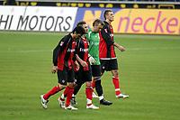 Chris, Albert Streit, Markus Prˆll und Alex Meier (alle Eintracht Frankfurt) entt‰uscht