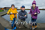 Enjoying a stroll in the Tralee Bay Wetlands on Saturday, l to r: Karl, Karol and Rachel Mullally