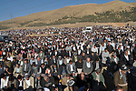 GOIZHA, IRAQ: Iraqi Kurds gather together to pray for rain...The current fall and winter have been extremely dry in northern Iraq.  A number of Islamic parties in the north of the country organized mass prayer gatherings to combat the coming drought...Photo by Sartep Osman/Metrography