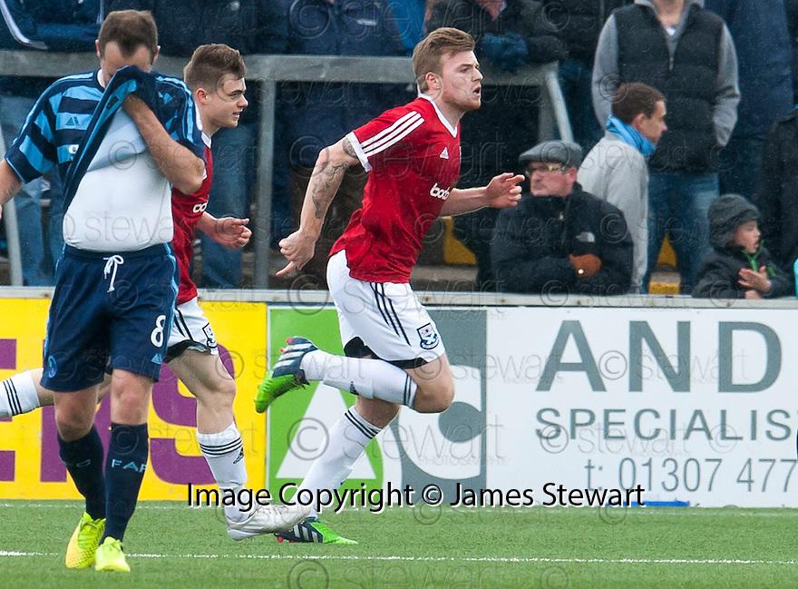 Ayr Utd's Jordan Preston celebrates after he scores their second goal.