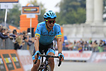 Miguel Angel Lopez (COL) Astana Pro Team crosses the finish line in 2nd place at the end of the 99th edition of Milan-Turin 2018, running 200km from Magenta Milan to Superga Basilica Turin, Italy. 10th October 2018.<br /> Picture: Eoin Clarke | Cyclefile<br /> <br /> <br /> All photos usage must carry mandatory copyright credit (© Cyclefile | Eoin Clarke)