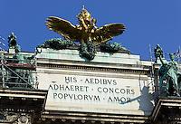 Neue Hofburg vom Burggarten, Wien, Österreich, UNESCO-Weltkulturerbe<br /> Neue Hofburg, Vienna, Austria, world heritage
