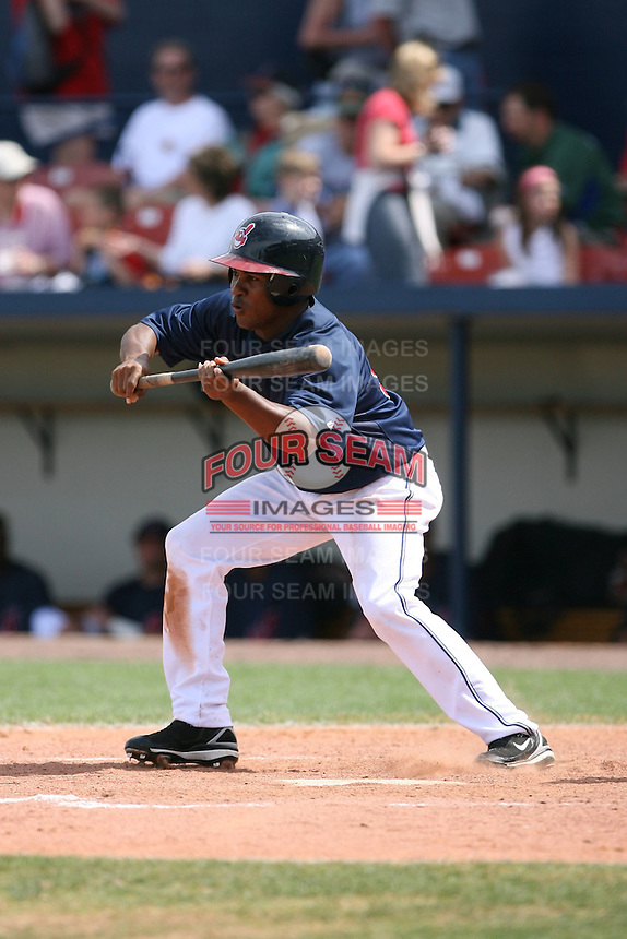 March 20th 2008:  Jose Constanza of the Cleveland Indians during a Spring Training game at Chain of Lakes Park in Winter Haven, FL.  Photo by:  Mike Janes/Four Seam Images