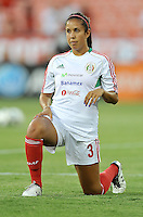 Bianca Sierra (3) of Mexico during pre-game warmups. The USWNT defeated Mexico 7-0 during an international friendly, at RFK Stadium, Tuesday September 3 , 2013.