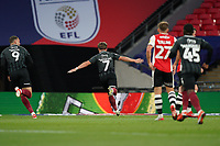 Sam Hoskins of Northampton Town (7) celebrates after he scores his team's third goal during the Sky Bet League 2 PLAY-OFF Final match between Exeter City and Northampton Town at Wembley Stadium, London, England on 29 June 2020. Photo by Andy Rowland.