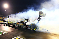 May 15, 2015; Commerce, GA, USA; NHRA top fuel driver Tony Schumacher during qualifying for the Southern Nationals at Atlanta Dragway. Mandatory Credit: Mark J. Rebilas-USA TODAY Sports