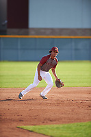 Jordan Matthews (6) of Lee High School in Midland, Texas during the Baseball Factory All-America Pre-Season Tournament, powered by Under Armour, on January 14, 2018 at Sloan Park Complex in Mesa, Arizona.  (Zachary Lucy/Four Seam Images)