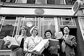 Local residents Liz Fewings, Christine Finlay and Jane Stewart with UCW member John Johnson outside Maida Hill Post Office before setting off to deliver over 1000 letters to Michael Heseltine, John Wheeler MP and Mike Heron, Chair of the Post Office.
