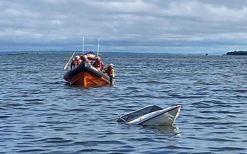 Submerged Speed Boat Causes Concern on Lough Neagh