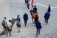 AUS-Mary Hanna rides Calanta during the Dressage Grand Prix Team and Individual Qualifier Day 1 at the Equestrian Park. Tokyo 2020 Olympic Games. Saturday 24 July 2021. Copyright Photo: Libby Law Photography