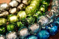 Gioielli in vetro nel laboratorio di Davide Penso a Murano, laguna di Venezia.<br /> Glass jewels at Davide Penso's laboratory shop in Murano, Venice's Lagoon.<br /> UPDATE IMAGES PRESS/Riccardo De Luca