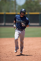 Seattle Mariners catcher Geoandry Montilla (41) rounds the bases after hitting a home run during an Extended Spring Training game against the San Francisco Giants Orange at the San Francisco Giants Training Complex on May 28, 2018 in Scottsdale, Arizona. (Zachary Lucy/Four Seam Images)