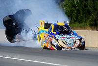 Mar. 12, 2011; Gainesville, FL, USA; NHRA funny car driver Jim Head during qualifying for the Gatornationals at Gainesville Raceway. Mandatory Credit: Mark J. Rebilas-.