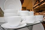 Cups & Saucers, Crate & Barrel, Stockton Street, San Francisco, California
