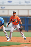 Baltimore Orioles J.C. Escarra (72) during a Florida Instructional League game against the Tampa Bay Rays on October 1, 2018 at the Charlotte Sports Park in Port Charlotte, Florida.  (Mike Janes/Four Seam Images)