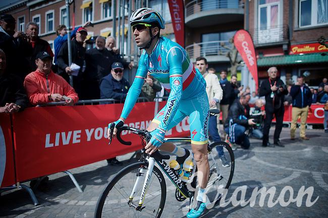 Italian Champion Vincenzo Nibali (ITA/Astana) on his way to sign-in<br /> <br /> 79th Flèche Wallonne 2015