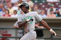 Clinton Lumberkings John Mayberry during a Midwest League game at Fifth Third Field on July 18, 2006 in Dayton, Ohio.  (Mike Janes/Four Seam Images)