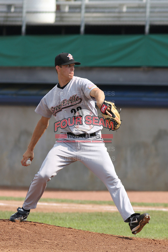 Jordan Lyles of the Greeneville Astros pitching .against the Princeton Devil Rays in an Appalachian League game at Hunnicutt Field in Princeton, WV on July 20, 2008