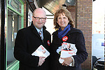Ged Nash and Joan Burton canvassing 14/2/11