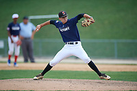 Pitcher Keaton Hopwood (13) during the Dominican Prospect League Elite Underclass International Series, powered by Baseball Factory, on August 2, 2017 at Silver Cross Field in Joliet, Illinois.  (Mike Janes/Four Seam Images)