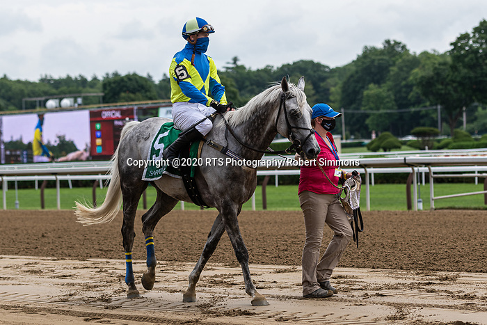 07232020:A.P. SMITHWICK MEMORIAL Michael Mitchell wins on Moscato trained by Jack Fisher at Saratoga 2020<br /> Robert Simmons/Eclipse Sportswire