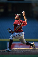 Arizona Diamondbacks pitcher Tyler Mark (26) during an Instructional League game against the Oakland Athletics on October 15, 2016 at Chase Field in Phoenix, Arizona.  (Mike Janes/Four Seam Images)