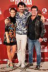 "Juana Acosta, the director of the film Félix Viscarret and Jorge Perrugoria attends to the presentation of the spanish film ""Vientos de la Habana"" in Madrid. September 27, 2016. (ALTERPHOTOS/Borja B.Hojas)"