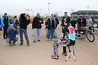 Press take photos at the Lakeside Hammers Speedway Press & Practice Day at Arena Essex Raceway - 20/03/15 - MANDATORY CREDIT: Gavin Ellis/TGSPHOTO - Self billing applies where appropriate - contact@tgsphoto.co.uk - NO UNPAID USE