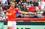 Davis Cup by BNP Paribas.<br /> World Group Quarterfinal.<br /> Spain vs Germany.<br /> Valencia (Spain).<br /> April 6, 2018.<br /> <br /> David Ferrer vs Alexander Zverev - 6-4 6-2 6-2.<br /> Rafael Nadal vs Philipp Kohlschreiber - 6-2 6-2 6-3.