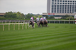 JUL 12,2014:At the first turn in the American Derby at Arlington Park in Arlington Heights,IL. Kazushi Ishida/ESW/CSM