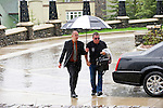 BANFF, AB, CANADA - JUNE 14:  Actor William Shatner (R) arriving on June 14, 2010 at the Banff Springs Hotel in Banff, Alberta, Canada. Photo by Jimmy Jeong *** Local Caption *** William Shatner