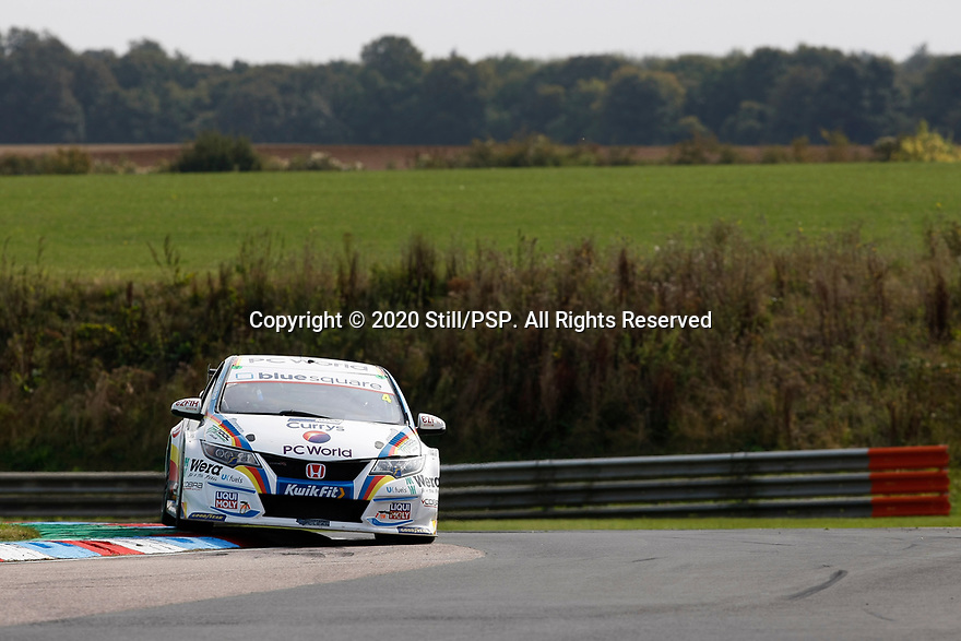 Round 5 of the 2020 British Touring Car Championship. #4 Sam Osborne. MB Motorsport Accelerated by Blue Square. Honda Civic Type R