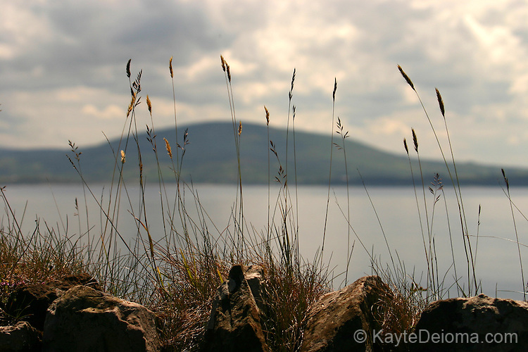 View from Rathlin Island back to the Hills of Antrim in Northern Ireland