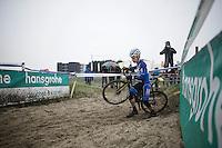 European Champion Quinten Hermans (BEL/Telenet-Fidea) <br /> <br /> U23 race<br /> Noordzeecross - Middelkerke 2016
