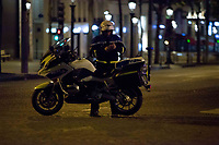 20/04/2017, Paris, France - Terror Attack Champs Elysee, police officer and suspect shot dead on Champs Elysees in attack claimed by Islamic State, one tourist woman injured, another french police officer badly injured, Paris, France, french police # FUSILLADE CONTRE DES POLICIERS SUR LES CHAMPS-ELYSEES