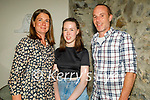 Emily Roche from Tralee celebrating her 15th birthday and the reopening of the indoor dining in Bella Bia on Monday, l to r: Sharon and Emily Roche and Mark O'Donoghue.