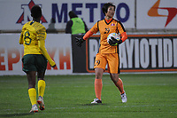 20190301 - LARNACA , CYPRUS : North Korean goalkeeper Kim Yong Sun pictured during a women's soccer game between South Africa and Korea DPR , on Friday 1 March 2019 at the AEK Arena in Larnaca , Cyprus . This is the second game in group A for Both teams during the Cyprus Womens Cup 2019 , a prestigious women soccer tournament as a preparation on the Uefa Women's Euro 2021 qualification duels. PHOTO SPORTPIX.BE   STIJN AUDOOREN