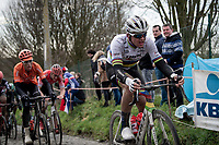 World Champion Mads Pedersen (DEN/Trek-Segafredo) up the Molenberg<br /> <br /> 75th Omloop Het Nieuwsblad 2020 (1.UWT)<br /> Gent to Ninove (BEL): 200km<br /> <br /> ©kramon