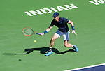 Andy Murray (GBR) during his semifinal match against Novak Djokovic (SRB). Djokovic advanced to Sunday's final after defeating Murray by 62 63 at the BNP Parisbas Open in Indian Wells, CA on March 21, 2015.