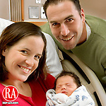 WATERBURY, CT -01 JANUARY 2006 -010106J02--- Waterbury residents Greg and Christine Salvucci are the proud parents of Nicholas Michael Salvucci born at 12:09 a.m. on New Years Day at Waterbury Hospital. Nicholas is the couples first child and the first New Year's baby in the state.    --  Jim Shannon Republican-American--  Waterbury Hospital; Greg Salvucci and Christine Salvucci; Nicholas Michael Salvucci, New Years Day are CQ